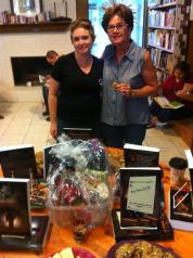 Authors Mary Reason Theriot and Jennifer Theriot at Good Books in the Woods during their Fall Festival