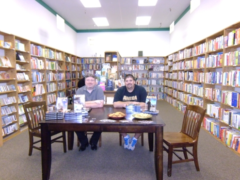 Jason of Grey Gecko Press with Author Wayne Basta.