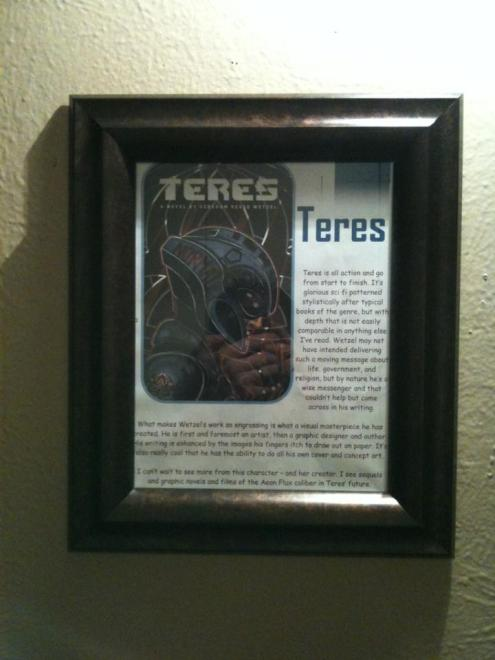 My Teres review framed